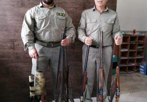 دستگیری هفت شکارچی غیرمجاز به همراه هفت قبضه سلاح شکاری قاچاق در فومن